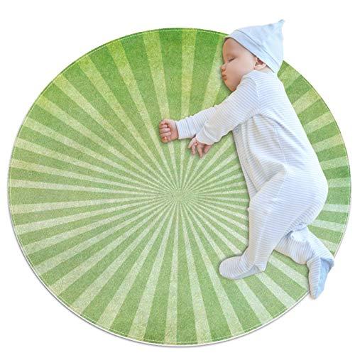Alfombras Redondas para niños Líneas divergentes Alfombras para Habitaciones alfombras Antideslizantes para Gatear Creativas alfombras para niños pequeños para bebés 70x70cm