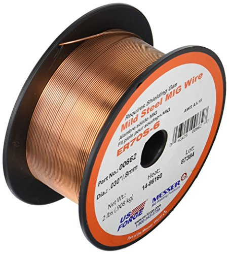 US Forge Welding Solid Mild Steel MIG Wire .030 2-Pound Spool #00662