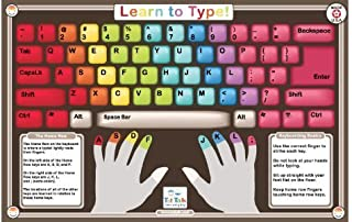 Tot Talk Learn to Type Educational Placemat for Kids