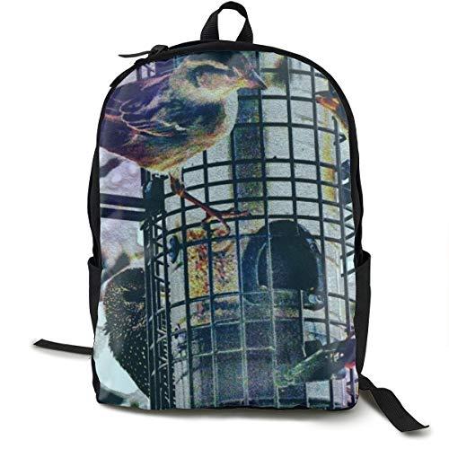 Rucksack mit Vögeln, zum Zeichnen, Füttern, Spatzen, Schulranzen, Büchertasche, Reisen, Laptoprucksack, Freizeitrucksack für Kinder, Studenten, Erwachsene