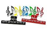 naissant 【12個セット】音符 メモクリップ ミュージック クリップ ブック ページクリップ プラスチック 音楽