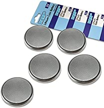HQRP 5-Pack Coin Lithium Battery for Lexus 89904-50380 ES350 2009 2010 2011, GS350 2009 2010 2011, is-C 2009 2010 2011 Smart Key Fob Remote Transmitter + Coaster