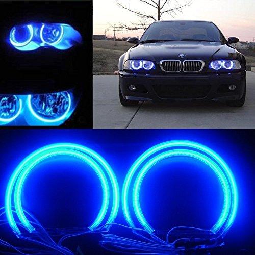 QiuKo 4pcs CCFL Angel Eye Halo Ring White Color For BMW E46 E39 E36 3 Series Coupe (blue)