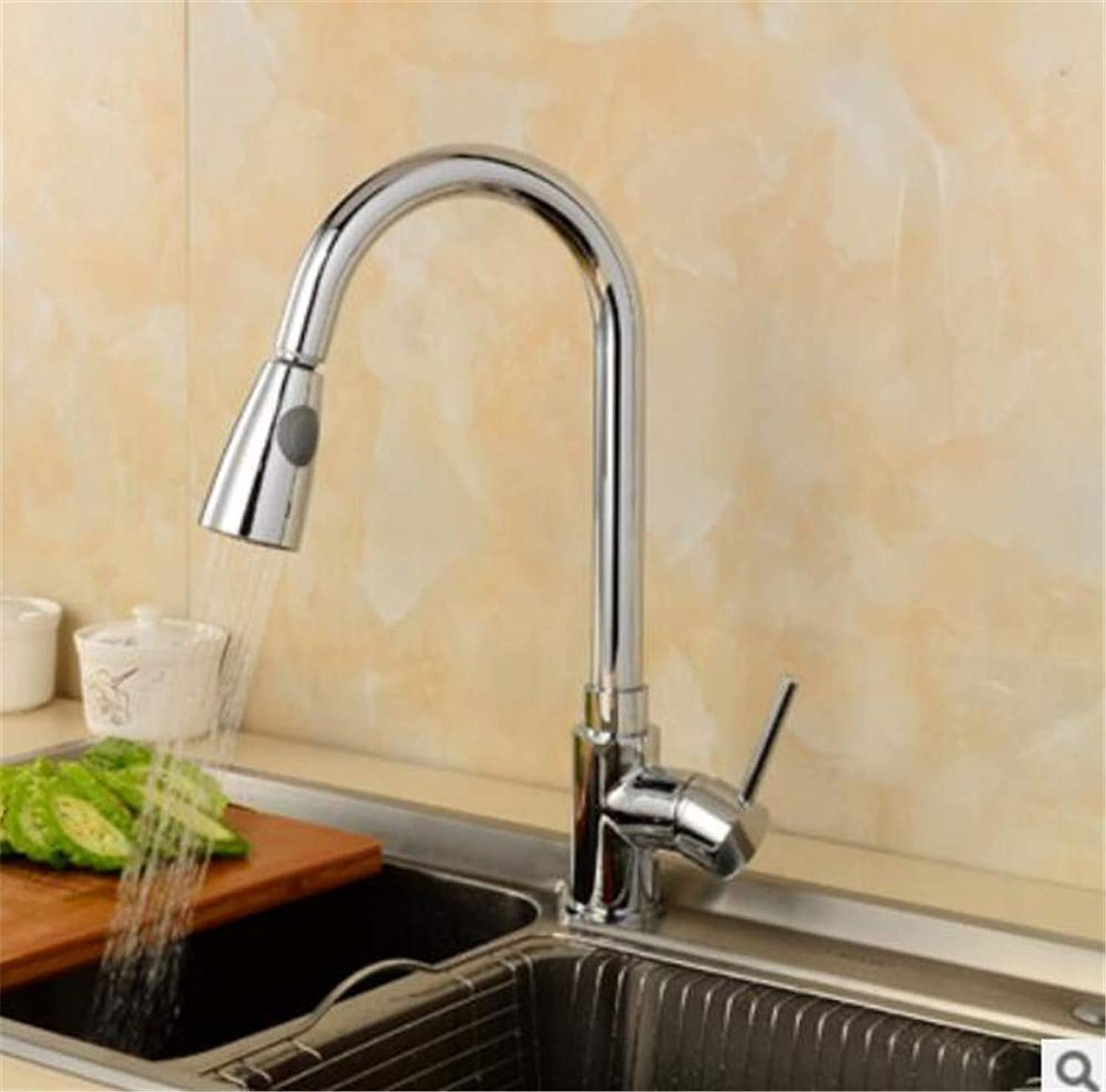 Oudan All Copper Cold Jet Black Antique Brushed Nickel Orb Pull Hot and Cold Water Mixing Water Dish Kitchen Faucets (color   B, Size   -)