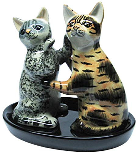 B2SEE LTD Salz und Pfefferstreuer Set Katze Katzengeschenke Katzenfreunde Set 3 teilig