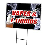 SignMission Sign Stake is Included, 12' X 16' Single Sided, Vapes & E-Liquids