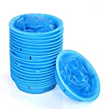 Vomit Bags, McoMce 20-Pack Durable Puke Bags, Sturdy Throw Up Bags, Emesis Bags Disposable, Multi-Purpose Emesis Bags, Aircraft & Car Sickness Bag, Nausea Bags for Travel Motion Sickness, 1000ml Blue