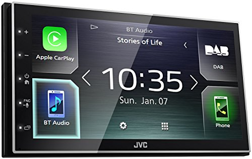 JVC KW-M745DBT Digital Media Receiver mit 17,3 cm kapazitivem Touch-Panel, DAB+ und Bluetooth Schwarz