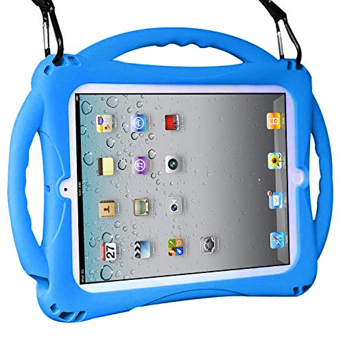 TopEsct Kids Case for ipad 2 3 4, Shockproof Handle Stand Case with Pencil Holder Compatible with Apple iPad 2,iPad 3,iPad 4 (Blue)