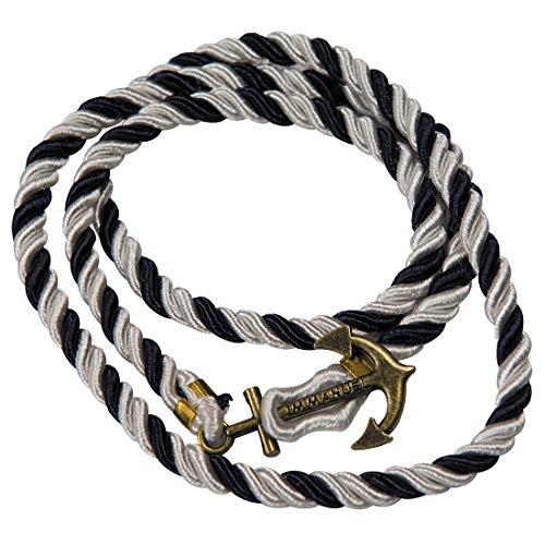 Amakando Edles Marine Wickelarmband für Frauen / Blau-Weiß / Maritimes Seil-Armband Matrosin / EIN Blickfang zu Kostümfest & Karneval