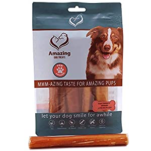 Amazing Dog Treats Bully Sticks Regular 6 in 10 Pack