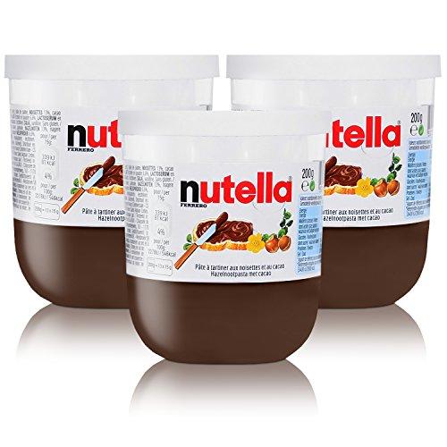 3x Ferrero Nutella Glas Brotaufstrich Schokolade 200g
