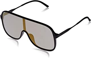 Puma Men's PU0190S PU0190S-001 99 Shield Sunglasses, Black, 99 mm