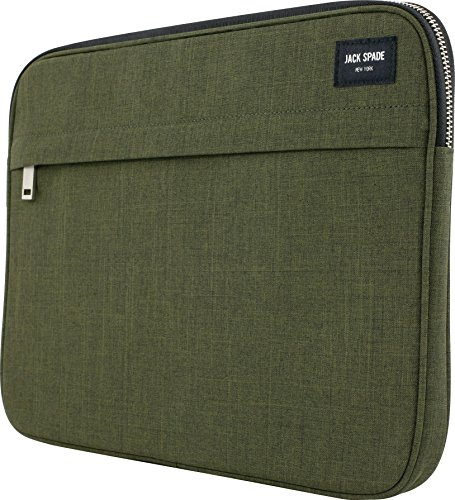 JACK SPADE Sleeve for 13' MacBook Pro w/ Retina Display & 13' MacBook Air - Tech Oxford Olive - JSMB-001-TOOL