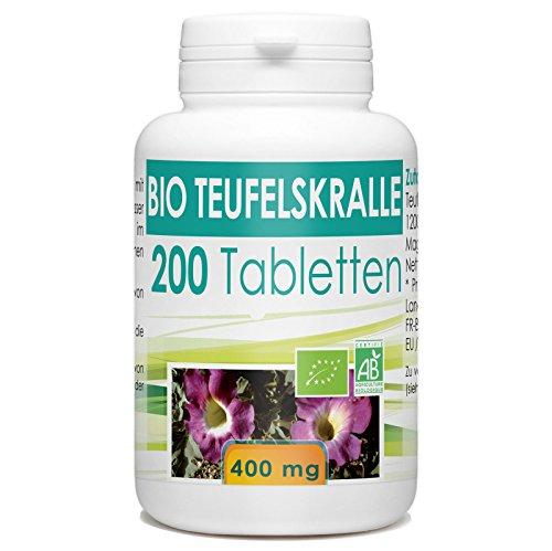 Bio Teufelskralle (Harpagophytum procumbens) 400mg - 200 Tabletten