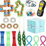 19 Pieces Sensory Fidget Toys Set, Relieves Stress and Anxiety Fidget Toy for Teens Adults, Stress Relief Toys Assortment for Birthday Party, Classroom Rewards, Carnival, Goodie Bag Fillers