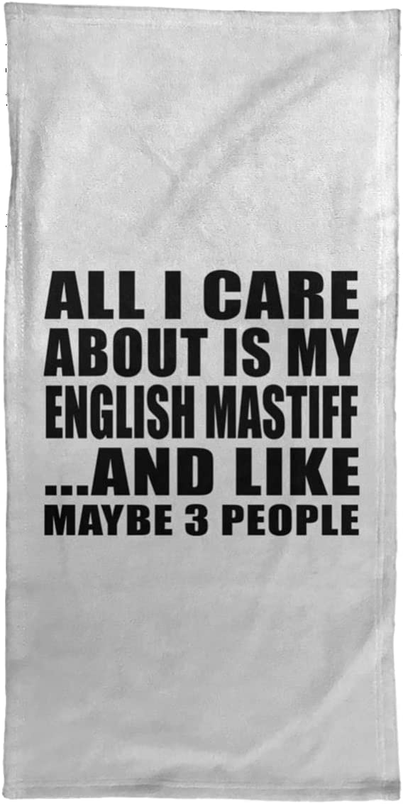 Easy-to-use Designsify All Chicago Mall I Care About is My Mastiff 1 English - Hand Towel