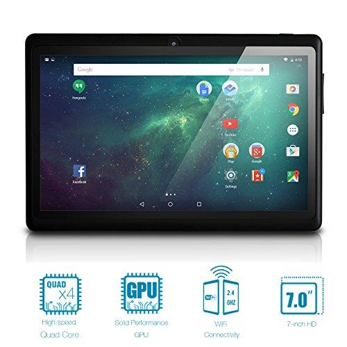 NeuTab 7'' Quad Core WIFI Tablet PC, HD 1024X600 Display, Bluetooth, Dual Camera, Google Play Pre-loaded, FCC Certified (Black)