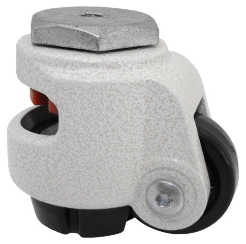 Economy Leveling Caster with 1.65' Wheel and M8 Threaded Hollow Kingpin