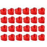 DC CLOUD Led Tealights Led Candles Flickering Flame Electronic Candles Flameless Led Candles Love Heart Shape With Flickering Light Decoration For Wedding And Party red