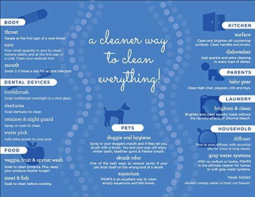Essential Oxygen Food Grade Hydrogen Peroxide 3%, Natural Cleaner, Refill, 32 Fl Oz