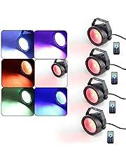 4 x COB RGB LED par scenbelysning DMX 30 W scenljuseffekt DJ bröllopsvisning, med fjärrkontroll