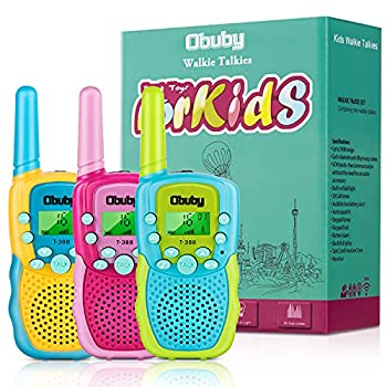 Obuby Toys for 3-12 Year Old Boys Walkie Talkies for Kids 22 Channels 2 Way Radio Gifts Toys with Backlit LCD Flashlight 3 KMs Range Gift Toys for Age 3 up Boy and Girls to Outside  Hiking Camping