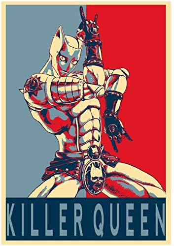 インテリアポスター・プリント-「Propaganda」ジョジョの奇妙な冒険Killer Queenアート キャンバス絵画 インテリアパネル インテリア絵画 新築飾り 贈り物 サイズ A2(40x60)
