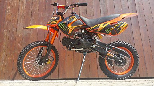 RV-RACING GT607S 125ccm Dirtbike Orange Pitbike Enduro Cross 4 Takt 4 Gang TOP!!
