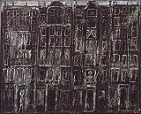 Jean Dubuffet Building Facades c12224 A4 Canvas - Estirado, listo para colgar (12/8 inch)(31/20 cm) - Película Película Decoración de pared Arte Actor Actriz Regalo Anime Auto Cinema Room Decoración