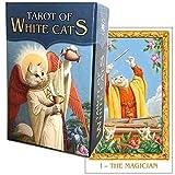 タロットカード 78枚 ウェイト版 ミニチュア タロット占い 【 ホワイトキャッツ・タロット ミニ Tarot Of White Cats MINI 】日本語解説書付き [正規品]