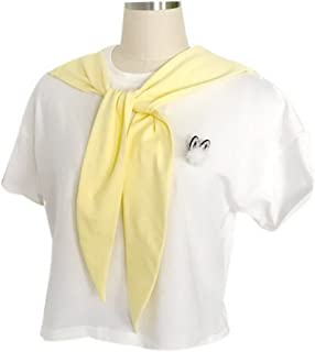 Navy Style False Collar Shawl Lovely Rabbit Ear Shaped Fake Collar Shawl, Yellow