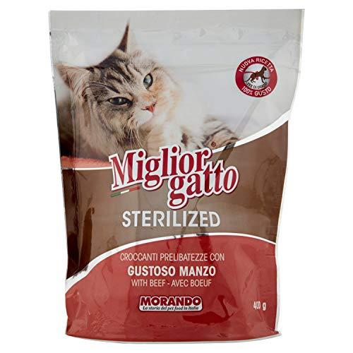 MigliorGatto Sterilized Croccantini manzo gustoso multipack 6 x 400 Grammi