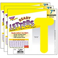 "Yellow 7"" Billboard Uppercase Ready Letters, 3 Packs"