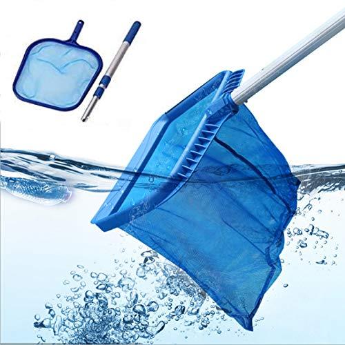 JKYQ Schwimmbad Netto-Pool Reinigung Netto-Long-Stabreiniger Einbau-Skimmer feinmaschigen Beutel Für Schwimmbad Badewanne Brunnen Fischbecken Pool,nets + 3m Poles