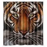 Doubee Custom Wilde Tiger Wasserdichtes Duschvorhang Shower Curtain 66