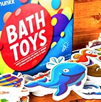 CHIPMUNKK Solid Foam Rubber Bath Toys with Colorful Sea Animal Theme - Hygienic & Sticks to Tub - Nemo, Octopus & More - for Kids, Toddlers, Boys, Girls & Baby - Doesn't Trap Water, Stay Germ Free [並行輸入品]