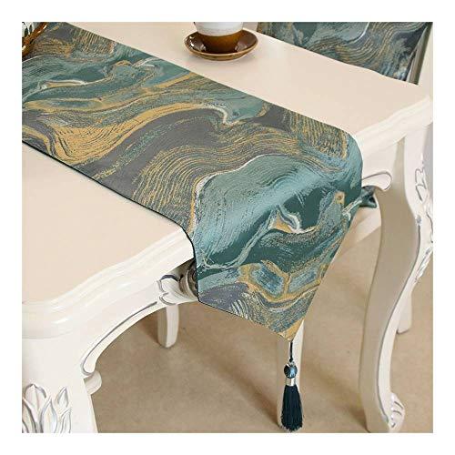 Camino de mesa Cuizc, camino de mesa, mesa de café, zapatero, cubierta de tela, sala de reuniones