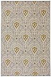 Karastan Crossroads Nanai Woven Rug, 5'3x8'3, Dove Gray