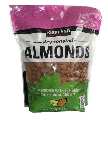 Kirkland Signature California Dry Roasted Almonds with Sea Salt 25 lb Home Grocery Product