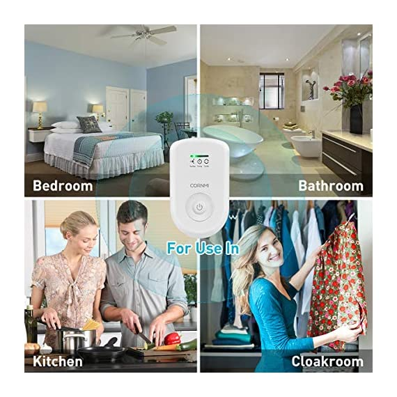 Air purifiers plug in for home, mini odor eliminator丨ozone negative ion dual function丨ionizer to remove smoke pet toilet… 5 🍃2-in-1 pluggable air purifier: cornmi air purifier has a built-in ozone and negative ion generator. Ozone has a strong oxidative decomposition ability, and negative ions can absorb dust. The combination of these two functions can effectively eliminate pet odor, secondhand smoke and kitchen oil fume, allowing you to enjoy natural fresh air at home. 🍃ozone deodorization function: the deodorizer can achieve the purpose of comprehensive and efficient cleaning by short-term releasing low-concentration o₃. O₃ has strong permeability, diffusibility and decomposition ability, which can effectively eliminate harmful substances and smells in the air. 🍃anion purification function: the air ionizer can produce anion, combine with the dust that are positive ions in the air and sink to the ground, avoiding the danger of inhaling floating objects. And achieve the removal of cigarette smoke, oil fumeand other particles matter. Effectivelyrefresh the air and improve the quality of sleep.