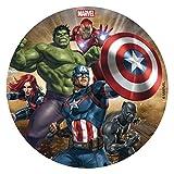 Dekora- Disco Comestible para Decoración de Tartas de Cumpleaños The Avengers-16 cm (231365)