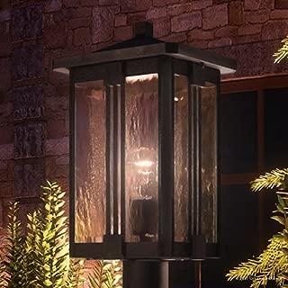 Luxury Craftsman Outdoor Post Light, Large Size: 20.25