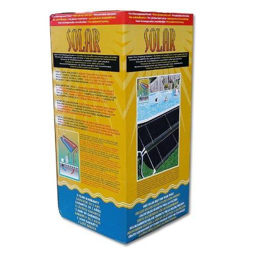 POWERHAUS24 ECO SOLAR Heizungssystem für Pools bis 30.000 Liter Wasser, modulares System, Testsieger, Anschluß an Sandfilteranlage, Komplett-Set