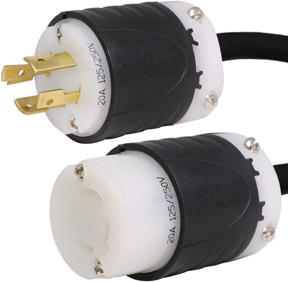NEMA L14-20 Extension Power Cord - Max 66% OFF 20 20A Foot 4 Max 87% OFF 250V 12 125