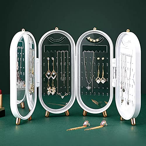 Joyero,Caja Joyas,Pequeña Joyero Viaje Decorativas Cajas para Joyas Jewelry Organizer para Mujer,Organizador Joyas con Espejo para Collares Anillos Pendientes, Jewelry Organizer Regalo