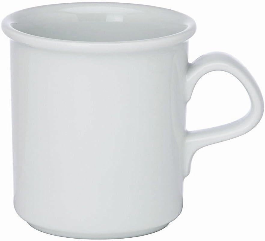 Ranking TOP15 Dansk Cafe Blanc White Max 47% OFF Porcelain 12 Ounce Set of Mug 4