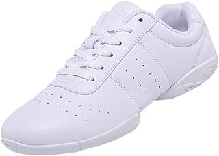 DADAWEN Women's Sport Training Cheerleading Shoes Dance Shoes Fashion Sneakers Cheer Shoes for Girls