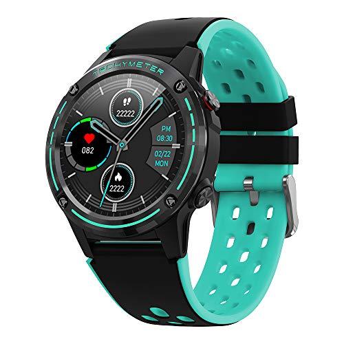 Bluetooth Smart Watch Fitness Tracker avec cardiofréquencemètre, pédale IP68 étanche avec contrôle de la musique GPS Sport Smart Watch pour homme femme