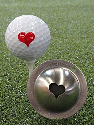 Tin Cup Kiss Me Golf Ball Marking Stencil, Steel